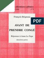 33664116 Avant de Prendre Conge 2 Francois Brigneau 1998
