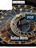 Five Minute Devotion-Rotten Words
