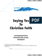 Yes to Faith CD Notes