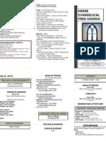 Church Bulletin -July 8th