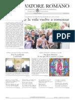 L´OSSERVATORE ROMANO. 01 Julio 2012