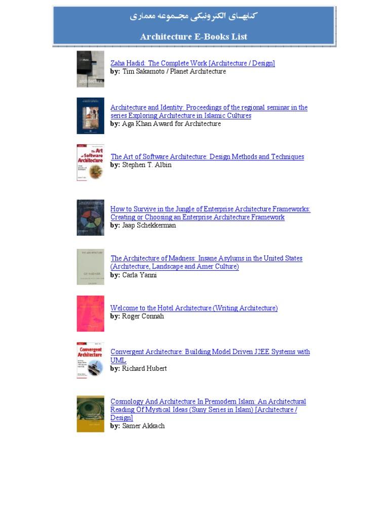 Architecture e books list landscape architect malvernweather Choice Image