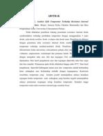 analisis efek temperatur terhadap resistansi internal dioda semikonduktor
