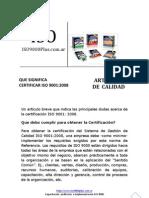 Certificar ISO