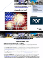 International Plan Newsletter, Summer 2012