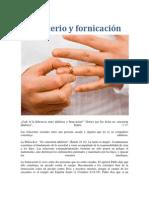 Adulterio y fornicación
