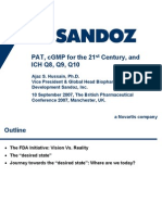 PAT, cGMP for the 21st Century and ICH Q8, Q9, Q10