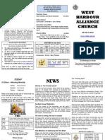 Church Newsletter - 08 July 2012