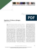 Regulation of Follow on Biologics