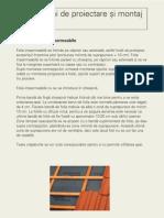 Instructiuni Proiectare Si Montaj