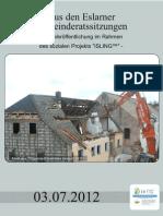 Aus den Eslarner Gemeinderatssitzungen 07.2012