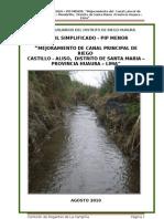 Perfil Simplificado Canal de Riego Lateral L1, Huacan - Membrillo