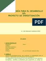 Metodología para el desarrollo de la invst.