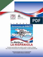 Memorias_Simposio Terremoto de Haiti Una Alerta Para La Hispaniola