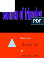 add maths Solution of triangles