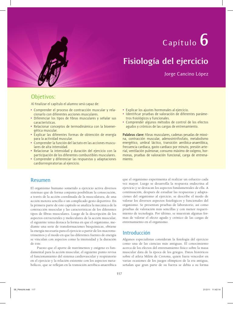 Capitulo de Fisiologia Del Ejercicio