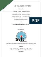 Full Report on Solar-Tracker | Solar Energy | Solar Panel