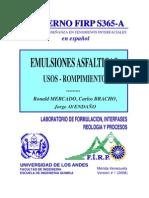 Emulsiones Asfálticas - Usos - Rompimientos