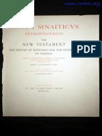Codex Sinaiticus Petropolitanus, The New Testament the Epistle of Barnabas and the Shepherd of Hermas, Kirsopp Lake (1911)