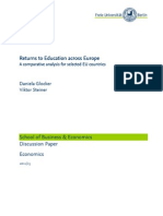 Returns to Education Across Europe_ a Comparative Analysis for Selected EU Contries