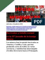 Noticias Uruguayas miércoles 4 de julio del 2012