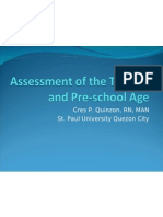 Assessment of Toddler and School Age