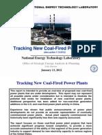 NETL Coal Fired Plant Tracker