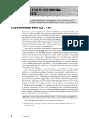 S005 - Multinomial Logit Analysis Tutorial   Regression