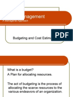 Budgeting n Cost Estimation