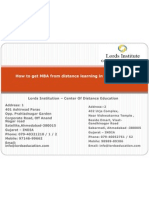How to Get MBA From Distance Learning in Ahmadabad
