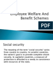 Employee Welfare and Benefit Schemes
