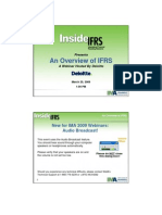 Inside IFRS March 25 Overview of IFRS Draft FINAL With Bios