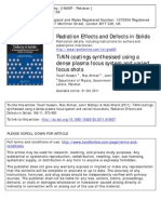 Synthesis of TiAlN Coatings Using Dpf