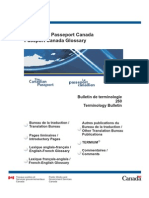 Lexique Passeport Canada
