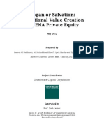 Slogan or Salvation Operational Value Creation in MENA PE