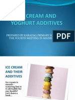 Ice Cream and Yoghurt Additives Presentation Prepared by Turkey