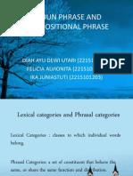 Noun Phrase & Prepositional Phrase