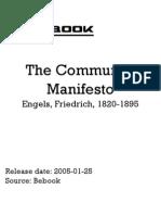Engels Friedrich 1820 1895 the Communist Manifesto