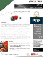 Frotcom Door Open Sensor