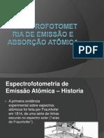 Espectrofotometria de Emissão e Absorção Atômica