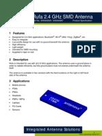 SMD Antenna Antenova-Rufa_Datasheet