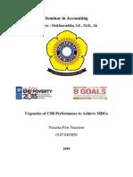 44796458 Urgencies of CSR Performance to Achieve MDGs