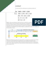 Cómo utilizar Solver de Excel