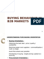 Buying Behaviour in b2b Markets