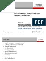 Hitachi Storage Command Suite Replication Manager