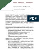 Declaración de posicionamiento en el Foro Permanente. Mujeres Indígenas Sudamericanas frente a la V Sesión del Foro Permanente sobre Cuestiones Indígenas de la ONU.    Nueva York, mayo 15 – 26, 2006