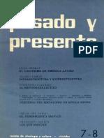 Pasado y Presente N°7-8 oct-mar 1965