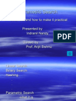 Parametric Search (PPT by Indranil Nandy)
