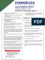 PROVA 2012-1 - G 2-3-4