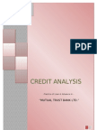 INTERNSHIP REPORT in Credit Analysis of Mutual Trust Bank Ltd for Asian University of Bangladesh.dhaka